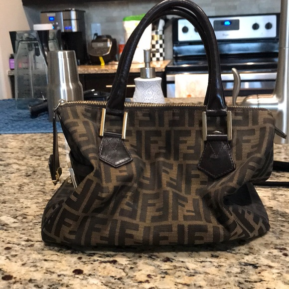 da55e551fe Fendi Handbags - Fendi Zucca top handle purse